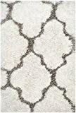 Safavieh Adelynn Tapis Polyester/Coton Ivoire/Argent 60 X 91 cm