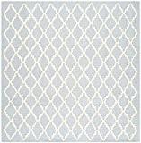 Safavieh CAM137A-6SQ Kate Texturé Area Tapis Laine Bleu clair/Ivoire 182 x 182 cm