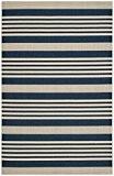 Safavieh CY6062-268-4 Gemma Tapis d'intérieur/extérieur Matériel Synthétique/Polypropylène Bleu marine/Beige 121 x 170 cm
