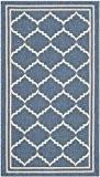 Safavieh CY6889-243-2 Chloé Tapis d'intérieur/extérieur Matériel Synthétique/Polypropylène Bleu/Beige 60 x 109 cm