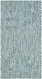 Safavieh CY8520-37122-2 Delano Tapis d'intérieur/extérieur Matériel Synthétique/Polypropylène Aqua/Aqua 60 x 109 cm