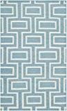 Safavieh DHU562A-3 Kinsley Dhurrie Tapis Laine Bleu clair/Ivoire 91 x 152 cm