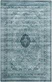 Safavieh VTG264B-4 Etta Vintage Inspiré Tapis Pile/Viscose Bleu clair/Bleu foncé 121 x 170 cm