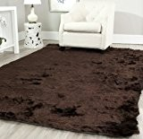 Safavieh Winnie Tapis Polyester Chocolat 91 X 152 cm