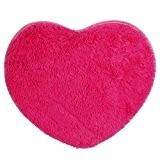 Saingace® douce anti-dérapant salon tapis chambre à coucher tapis shaggy (Rose chaud)