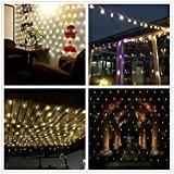 Salcar LED Guirlande Lumineuses Filet, 3 * 2 mètres pour les fêtes de Noël Party Décoration, intérieur, 8 effets d'éclairage ...
