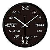 Salle de séjour Chambre Big Wall Horloge numérique Symbole Horloge horloge à quartz noir ( Size : 14in )