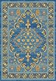 salle de tapis classique chambre NATIVE 200 07 BLEU 190 x280 cm
