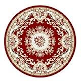 Salon chambre à coucher ronde étude tapis rouge fibre chimique en polypropylène rond 120 * 120 cm motif géométrique usure ...
