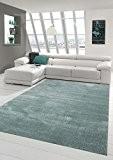 Salon Designer Tapis contemporain Tapis moquette avec uni design bruyères bleu clair bleu glace Größe 120x170 cm