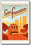 San Francisco California USA Vintage Travel Fridge Magnet - Aimant de réfrigérateur