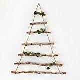 Sapin de Noël à Suspendre en Branches de Bouleau Enneigées par Lights4fun