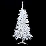 Sapin de Noël artificiel BLANC Hauteur 1m50 - 320 Branches - Qualité supérieur