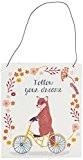 Sass Belle Boîte &/ fil de fer Follow Your Dreams sur Plaque renard pour vélo Multicolore