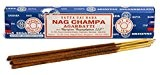 Satya Sai Baba Agarbatti Lot de 3 boîtes de bâtonnets d'encens Parfum Nag Champa