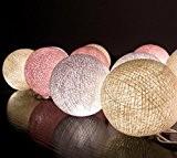 Sauvegarder Prix 20/Set Classique Boule Coton Léger Crème Rose Blanc Pour Noël Parti Décor à la Maison