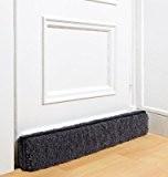 Schurwoll Boudin de bas de porte en laine vierge Anthracite 100 x 15 x 6 cm