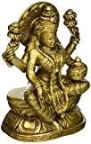 sculptures et figurines en laiton d'indou deesse Laxmi tapisserie 15,24 cm