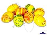 Set de 8Pièces?: Décoration de Pâques à suspendre couleur Joyeuse, jaune/orange/vert, marbre Look, hauteur?: 6cm, Pâques, Œufs de décoration décoration ...