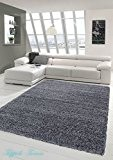 Shaggy tapis Shaggy pile longue tapis tapis de salon Patterned en Uni Conception Gris Größe 160x230 cm