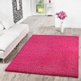 Shaggy Teppich Hochflor Langflor Teppiche Wohnzimmer Preishammer versch. Farben, Farbe:pink;Größe:140x200 cm