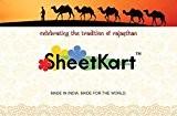SheetKart Petite tenture muraleMotif traditionnel éléphants et mandala Rouge/blanc