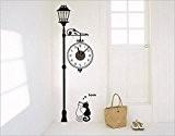 SHINA Pendule Murale Originale Moderne Horloge Murale wall stickers DIY 3D Amovible style mignon cartoon moderne réel Horloge Décoratif Décoration ...