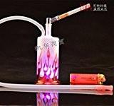 Shisha Narguilé Hookah Chicha Fumeur Pipe a Eau Cool Design rouge Flammes Verre