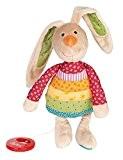 sigikid 40577, fille et garçon, peluche musicale lapin, multicolore, Rainbow Rabbit