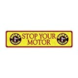 Signal Gasoline Stop Motor Vintage Metal Sign 20X5 Shop Automotive Steel Not Tin by The Vintage Sign Store