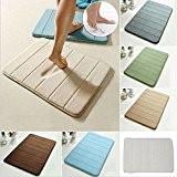 Simwood™ Memory Foam Tapis de bain Mat souple - anti-dérapant, anti-statique, anti-bactérien