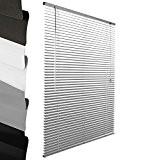 Sol Royal - Store venitien en aluminium - Argent - 90x220cm - Montage simple sans vis - Systeme de fixation ...