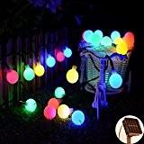 Solar Guirlande lumineuse, kondisco 30LED 6M Guirlande lumineuse solaire étanche–jardin extérieur Décoration Noël pour jardin, terrasse & # xff0C?; anniversaire, ...