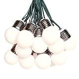 solarbuy24 Guirlande lumineuse solaire 15 boules Usage en extérieur Blanc chaud Round Bulbs blanc