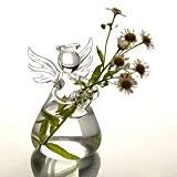 SOLEDI Verre Suspendu en Forme d'Ange de Fleur Vase Bouteille Container Jardin Décor