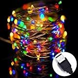 Solla Guirlande Décorative USB Fil Cuivre 10m 100 LEDs Lumière étoilée, pour Décoration de Mariage Noël Soirée etc. (Multicolor)