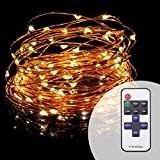 Solla® Guirlande Décorative USB Réglable Fil Cuivre 10m 100 LEDs Lumière étoilée , Décoration de Mariage Noël Soirée etc. (Blanc ...
