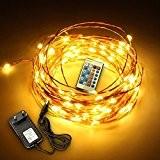 SOLMORE 10M 220V Guirlande Lumineuses 100 LED avec Télécommande Étanche String Light Cuivre Fil Éclairage Chaîne Déco Atmosphère Noël Sapin ...