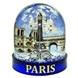 Souvenirs de France - Boule à Neige Luxe Paris en Coffret Cadeau - Bleu