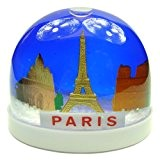 Souvenirs de France - Boule de Neige Monuments de Paris - Couleur : Bleu