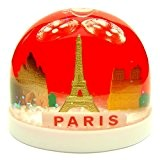 Souvenirs de France - Boule de Neige Monuments de Paris - Couleur : Rouge