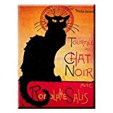 Souvenirs De France - Magnet Paris 'Chat Noir' 8 x 5,5cm