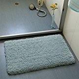 SQZH moelleux Confort chambre tapis paillassons épaississement table basse salon pad pad tapis lit 45x70cm blanc et fauve,bleu,45×70cm