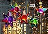 Star Style marocain Lanterne à suspendre en verre (pour bougie chauffe-plat)–Home & Garden, Verre, doré, Large Multi