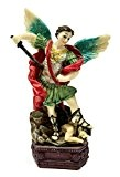 Statue Archange Saint Michel Figurine en résine peinte à la main de la Terre Sainte 16cm