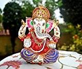 Statuette Ganesh Dieu Hindou-Figurine-Ganesh Idol métal peint Decor Gifts Sculpture etc