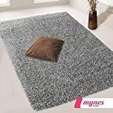 Steffensmeier Tapis en 160x 230cm gris salon SHAGGY tapis plaid