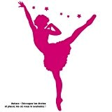 sticker Danseuse étoile Rose fuschia 43x60 cm