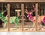Sticker de fenêtre no.407 Two Decostyle Deers Set , film de fenêtre, autocollant de fenêtre, tatouage de fenêtre, sticker vitres, ...