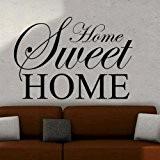 Sticker mural–Home Sweet Home... Décoration Murale Chambre Salon Cuisine Decor STD, noir, L - 90 x 60 cm